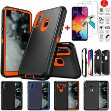 For iPhone Samsung LG Rugged Armor Phone Case Heavy Duty Cover+Screen Protector