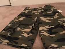 Faded Glory Boy's Camo Cargo Shorts Sz 18 MultiColor Clothes