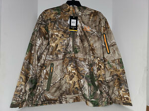 NEW Realtree Xtra Waterproof Breathable Scent Control Half Zip JACKET SIZE:2XL