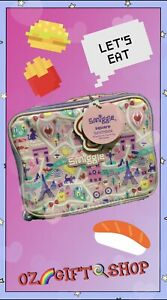 Smiggle Pink Paris Theme Square Lunch Box - Brand New 🗼🍿
