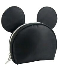 Disney Mickey Mouse Black Zip Cosmetic Makeup Bag with Ears Target Exclusive Nwt