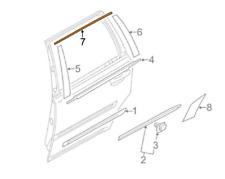 VOLVO XC90 MK1 Rear Right Window Chrome Apliqque Trim Strip 30784789 NEW GENUINE