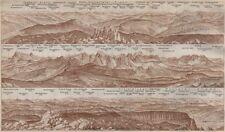 PANORAMA from/vom SCHLERN/SCILIAR. Südtirol Alto Adige Italy Italia 1911 map
