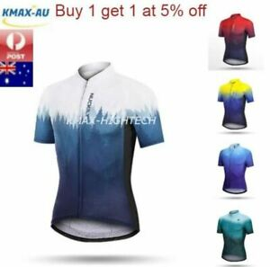 Mens Bicycle Cycling Bike Sports Jersey Short Sleeve Tops Breathable Shirt