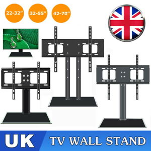 Universal Desk Table Top TV Stand Bracket LCD LED Plasma VESA Mount 26-70 inch