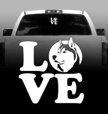 LOVE Siberian Husky - Vinyl Sticker Decal - High Quality Auto, Car, Window
