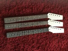 More details for 3 maple and rosewood guitar necks - uncut headstocks