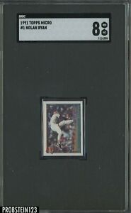 1991 Topps Micro #1 Nolan Ryan Texas Rangers HOF SGC 8 NM-MT