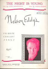 "NELSON EDDY Sheet Music ""The Night Is Young"""