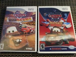 Disney Cars Mater-National & Mater's Tall Tales (Nintendo Wii Video Game Lot)