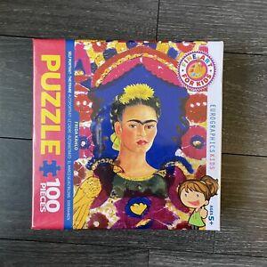 EuroGraphics Fine Art Kids Self Portrait The Frame Frida Kahlo 100 Piece Puzzle