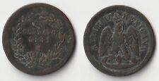 1881 Mexico 1 centavo coin