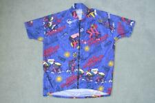 RETRO MULTI COLOURED CYCLING SHORT SLEEVE JERSEY MENS CHEST SIZE 42""