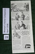 Vintage Ads for Rinso Soap & Imperial Washable Wall Paper, 1938, wringer washer