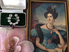 Raro Antiguo Plata Esterlina georgiano Diamante Corte Antiguo Pasta Herradura Broche Pin