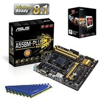NEW AMD A6 6400K APU CPU HD 8470 ASUS MOTHERBOARD 16GB DDR3 MEMORY RAM COMBO KIT