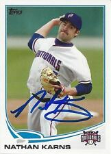 Nathan Karns Seattle Mariners 2013 Topps Pro Debut Signed Card
