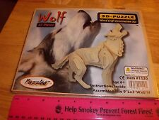 Alaska Wood 3D Wolf Puzzle 42 pieces 9 x 3 x 6 inches, fun wood craft project