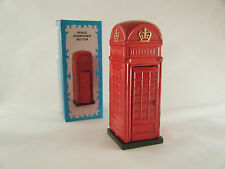 RED TELEPHONE BOX DIE CAST PENCIL SHARPENER Souvenir Gift