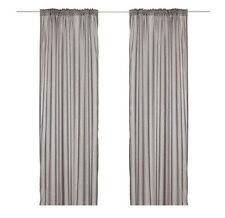 "IKEA thin curtains 2 panels 57x98"" light gray window drapes decor VIVAN VIVIAN"