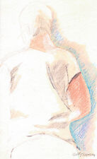"""""""BACK STUDY"""" by Ruth Freeman  WATERCOLOR  PENCIL  6 1/2"""" X 10 3/4"""""""