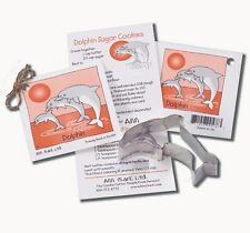 NEW Ann Clark Tin Dolphin Cookie Cutter w/ Cookie Recipe & Frosting Made in USA