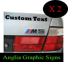 Personalised Custom Car & Van Boat Caravan Motorbike Signs Stickers decals