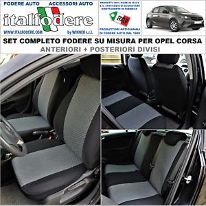 FODERE COPRISEDILI Opel Corsa E-F SU MISURA C/LOGHI Fodera Foderine Set Completo