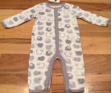 Baby Gap Boys 0-3 Months One-Piece Romper. White & Gray Bear Romper. Nwt