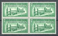 Italian Republic 1944 Sc# E3 Special delivery Palermo Italy block 4 MNH