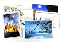 Selection of 7 Christmas cards unused unwrapped for charity