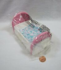 New FISHER PRICE Loving Family Dollhouse GIRL'S SINGLE BED with PINK & BLUE Rare