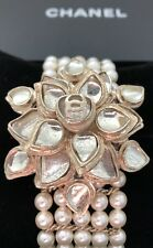 CHANEL Métiers d'Art Paris Gripoix 2012 Bombay CUFF Bracelet Pearls Goossens