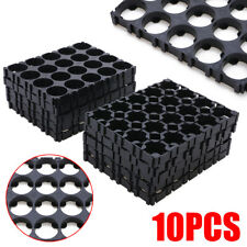 10x 4x5 18650 Cell Battery Spacer Radiating Shell Pack Plastic Heat Holder Black