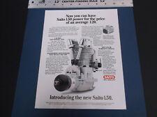 VINTAGE SAITO 1.50 R/C MODEL PLANE 4-STROKE ENGINE BROCHURE *G-COND*
