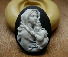 Mother  cameo silicone push mold mould  resin sugar craft polymer clay