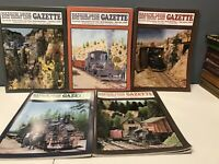 Train Railroad NARROW GAUGE AND SHORT LINE GAZETTE MAGAZINE 2008 ~ 5 Issues Lot