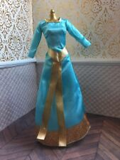 Deluxe Singing Merida Blue Dress Gold Brave  Disney Classic Princess Doll Barbie