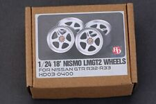 Hobby Design 1/24 18inch NISMO LMGT2 Wheels for Tamiya R32 kit (Resin+Decals)