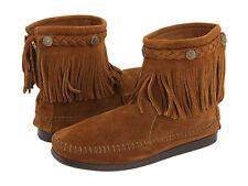 Minnetonka Hi-Top Back Zip Boot Brown 5