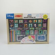 Disney Princess Frozen Wooden Deluxe Stamp Set Melissa & Doug Stamps Pencil Pads