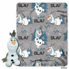 DISNEY**FROZEN OLAF CHARACTER PLUSH AND FLEECE THROW SET