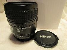 NIKON AF MICRO NIKKOR 60 mm f/2.8D Lens F2.8 Superbe Appareil photo parfait état