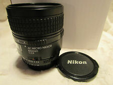 Nikon AF Micro NIKKOR 60 mm f/2.8D Lens F2.8 fotocamera mozzafiato ottime condizioni
