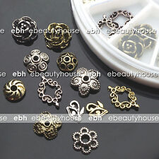 24 PCS 12 Styles Alloy Silver and Gold 3D Nail Art Decoration #EB-122