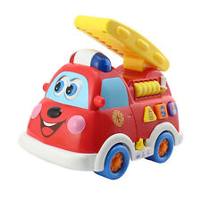 Bilingual Intellectual Cute Fire Truck Toy Kids Gift with Flashing Light Sounds