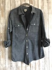 J.Crew The Perfect Shirt Two Pocket Chambray Denim Button Up Blouse S Small*