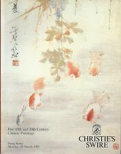 CHRISTIE'S HK CHINESE PAINTINGS Fu Fengmian Pu Ru Qi Baishi Zhang Daqian Cat 91