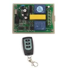Motor Reversing Garage Door Window 220V 2 CH Wireless Remote Control Switch