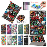 For Samsung Galaxy Tab A 10.5 2018 SM-T590 T595 T597 Smart PU Leather Case Cover